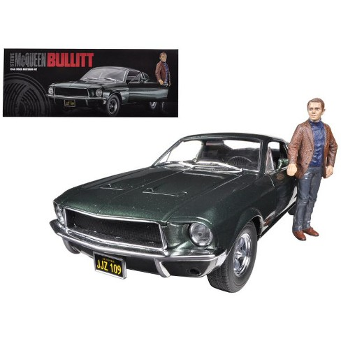 Ford Mustang GT Fastback 1968 uit de film Bullitt met Steve McQueen ( with Figure )1-18 Greenlight Collectibles