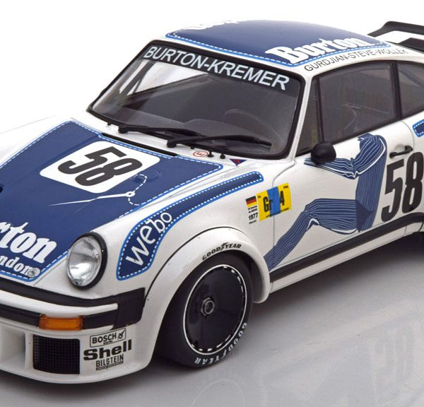 Porsche 934 No.58, 24h Le Mans 1977 Wollek/Gurdian/Steve 1-18 Minichamps Limited 336 Pieces