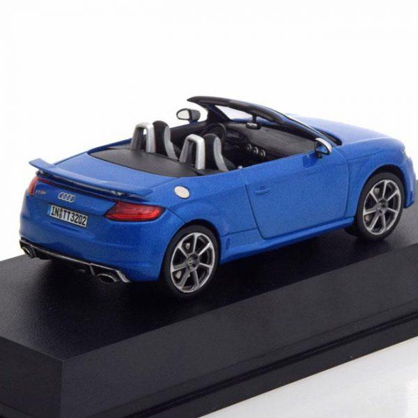 Audi TT RS Roadster 2017 Blauw Metallic 1-43 Iscale
