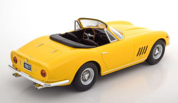 Ferrari 275 GTB/4 NART Spyder 1967 Geel 1-18 KK Scale Limited 500 Pieces