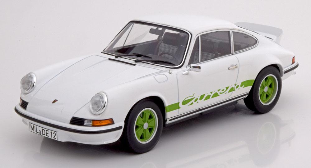Porsche 911 RS Touring 1973 Wit met groene strepen 1:18 Norev