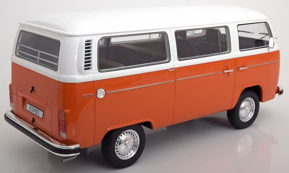 Volkswagen Bus T2 1978 Oranje / Wit 1-12 Ottomobile Limited 999 Pieces