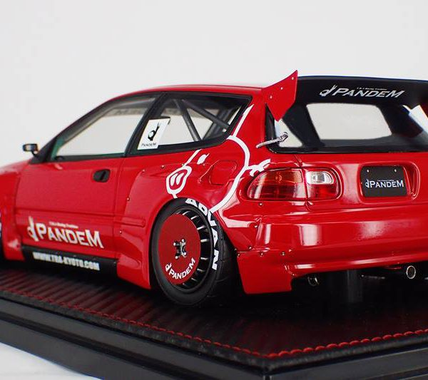 Honda-Civic-EG6-Pandem Rood 1-18 Ignition Models