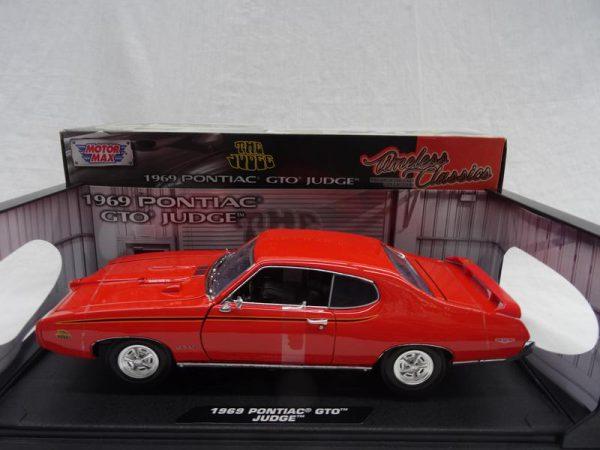 Pontiac GTO Judge 1969 Oranje 1-18 Motormax