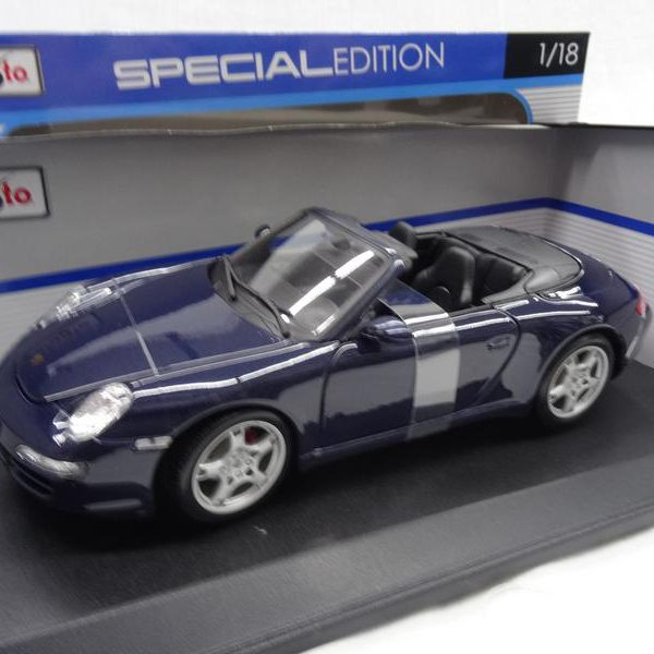 Porsche 911 Carrera S ( Type 997 ) Cabriolet 2007 Blauw 1-18 Maisto