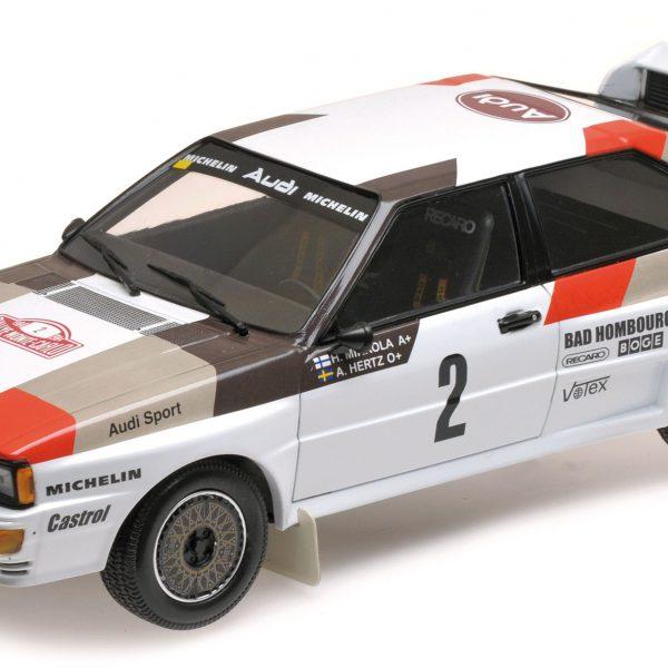Audi Quattro A1 #2 Audi Sport Mikkola/Hertz Rally Automobile De Monte Carlo 1983 1:18 Minichamps Limited 300 pcs.