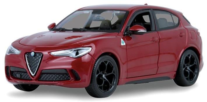 Alfa Romeo Stelvio 2017 Rood Metallic 1-24 Burago