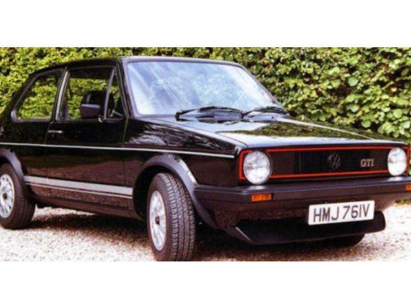 Volkswagen Golf I GTI 1979 Zwart 1-24 Burago