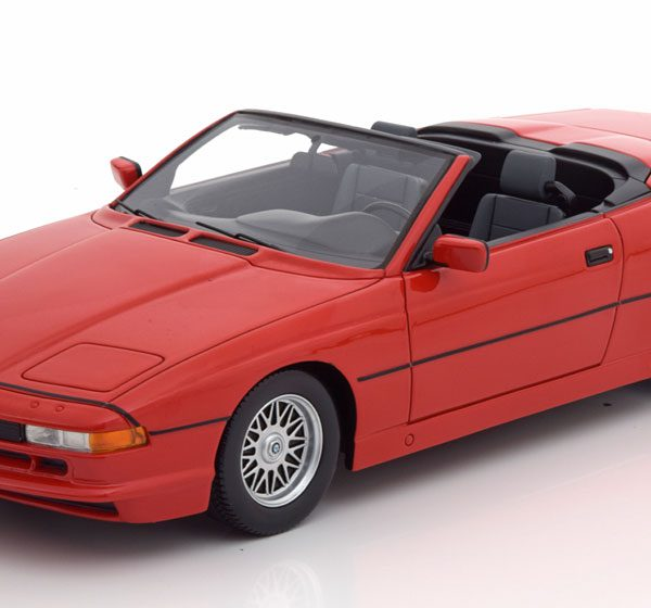BMW 850i Cabriolet Rood 1-18 Schuco Pro R Limited 500 Pieces
