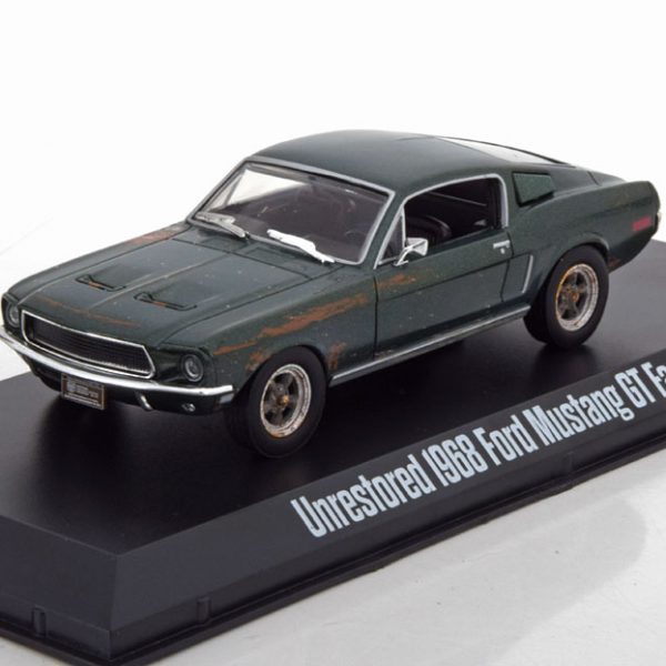 "Unrestored Ford Mustang GT Fastback 1968 'Steve McQueen"" Groen 1-43 Greenlight Collectibles"