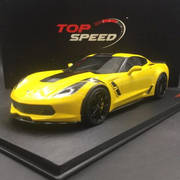 Chevrolet Corvette C7 2017 Grand Sport 1-18 Racing Geel Top Speed