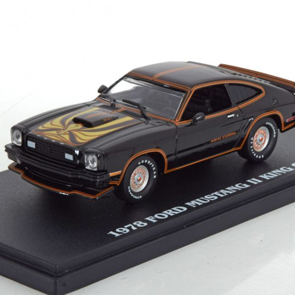 Ford Mustang II King Cobra 1978 Zwart 1-43 Greenlight Collectibles