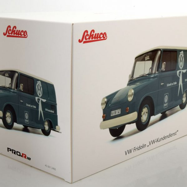 Volkswagen Fridolin VW Service 1-18 Blauw / Wit Schuco Pro R Limited Edition 500 pcs.