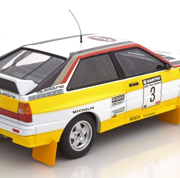 Audi Quattro A2 #3 Audi Sport Blomqvist/Cederberg Winners Sanyo Rally of New Zealand 1984 1:18 Minichamps Limited 300 pcs.