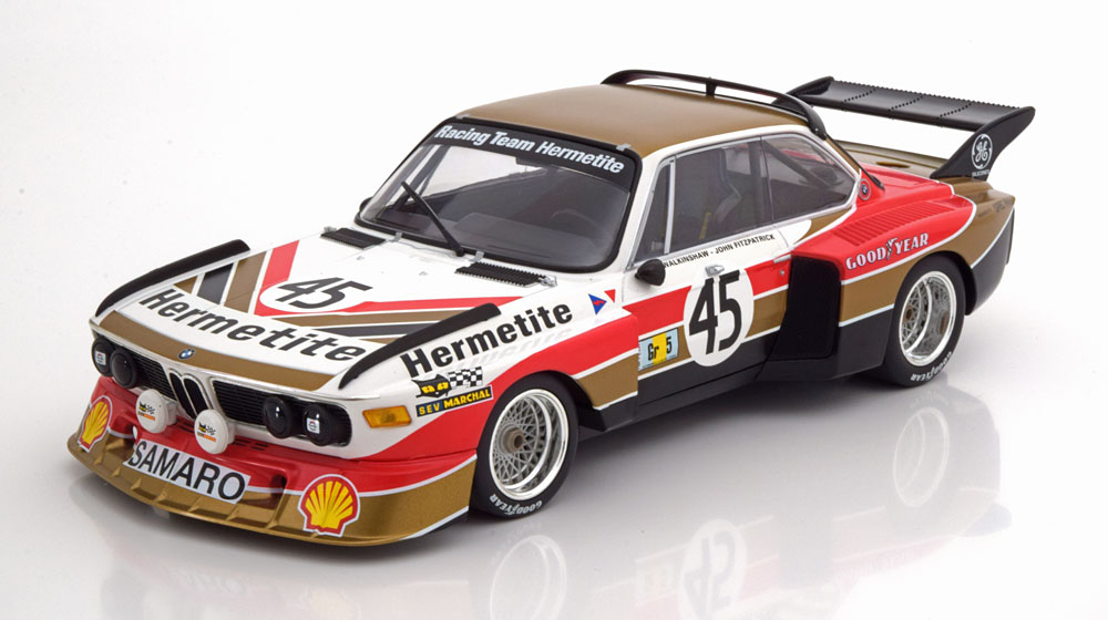 bmw 3 5 csl 45 hermetite walkinshaw fitzpatrick 24h le mans 1976 1 18 minichamps limited. Black Bedroom Furniture Sets. Home Design Ideas