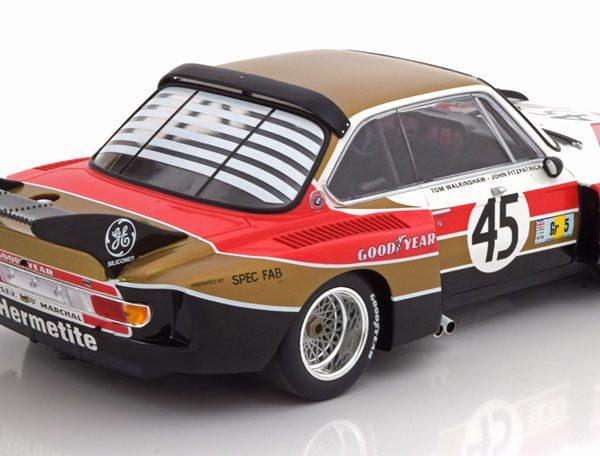 BMW 3.5 CSL #45 Hermetite Walkinshaw/Fitzpatrick - 24H Le Mans 1976 - 1:18 Minichamps Limited 402 pcs.