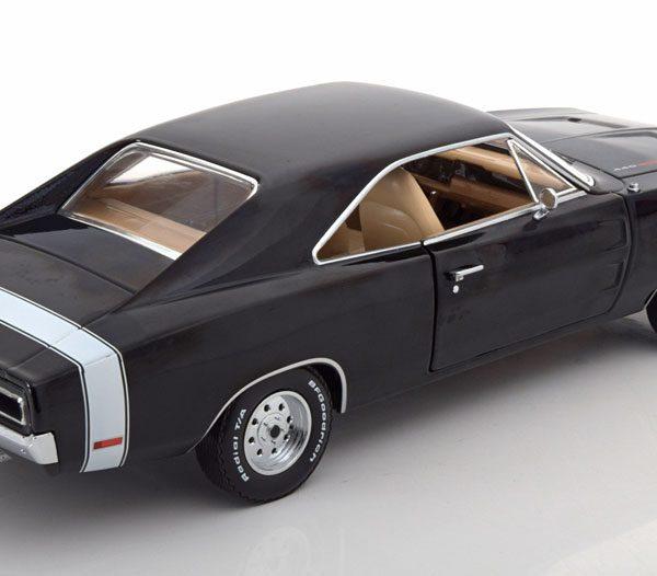 Dodge Charger Supernatural 1970 1:18 Zwart Greenlight