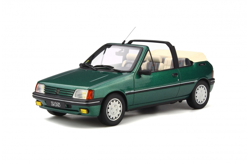 peugeot 205 cabriolet 1989 39 roland garros 39 groen 1 18 ottomobile limited 999 pieces schuiten. Black Bedroom Furniture Sets. Home Design Ideas