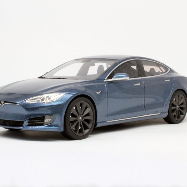 Tesla Model S Facelift 1-18 Grijs LS Collectibles Limited 250 Pieces