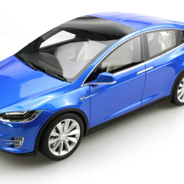 Tesla Model X 1-18 Blauw LS Collectibles Limited 250 Pieces