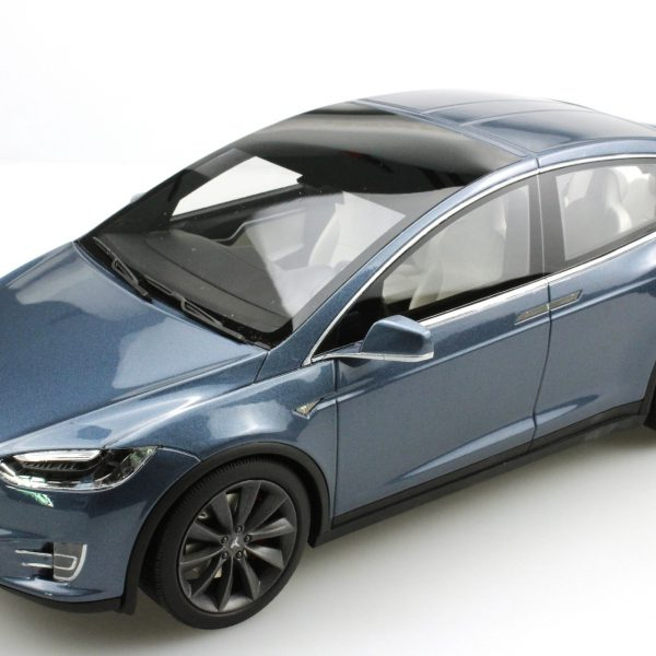 Tesla Model X Donker Grijsblauw 1-18 LS Collectibles Limited 250 Pieces
