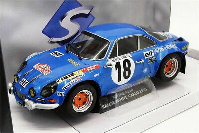 Renault Alpine A110 1800 #18 Monte Carlo 1973 Blauw 1-18 Solido
