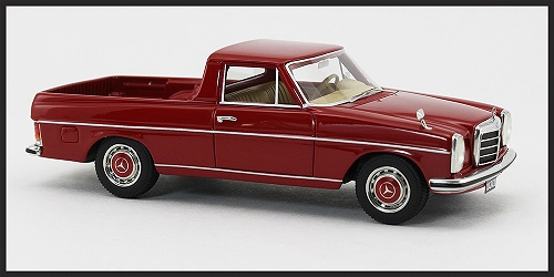 Mercedes-Benz 220D Binz (W115) Pick Up, Rood 1:43 BOS Models