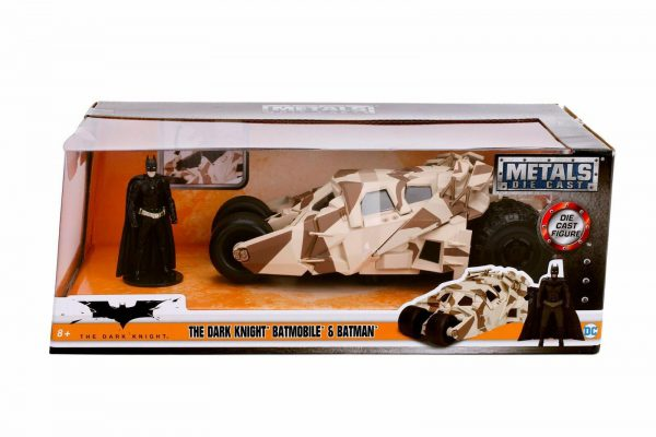 The Dark Knight Batmobile & Batman Camouflage 1:24 Jadatoys