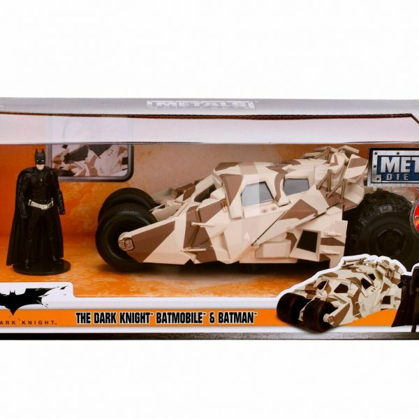 The Dark Knight Batmobile & Batman Camouflage 1:24 Jadatoys
