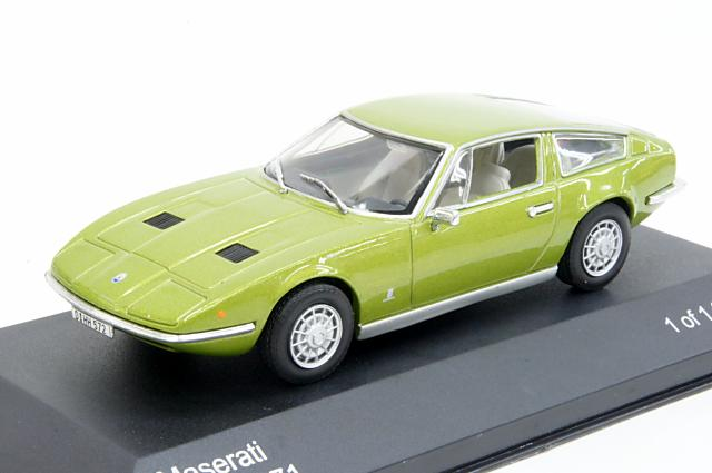 Maserati Indy 1971 Green Olive 1-43 Whitebox Limited 1000 Pieces