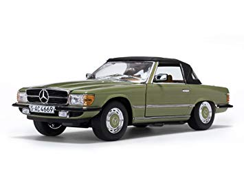 Mercedes-Benz 350 SL Closed Convertible 1977 Caledonia groen 1:18 Sun Star
