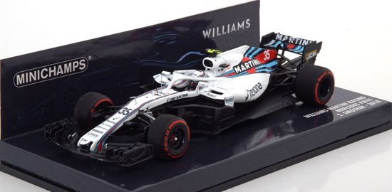 Williams Martini Racing Mercedes FW41 2018 S.Sirotkin 1-43 Minichamps ( Resin )