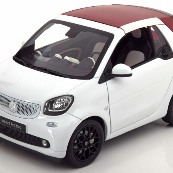 Smart Fortwo Cabriolet 2014 Softtop Wit 1-18 Norev