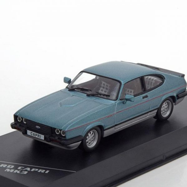 Ford Capri III 2.8 Injection Blauw Metallic 1-43 Whitebox Limited 1000 Pieces