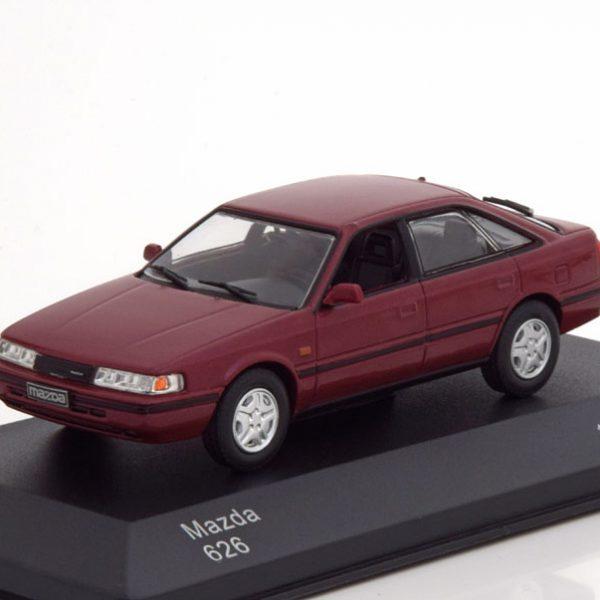 Mazda 626 1979 Bordeaux Rood Metallic 1-43 Whitebox Limited 1000 Pieces