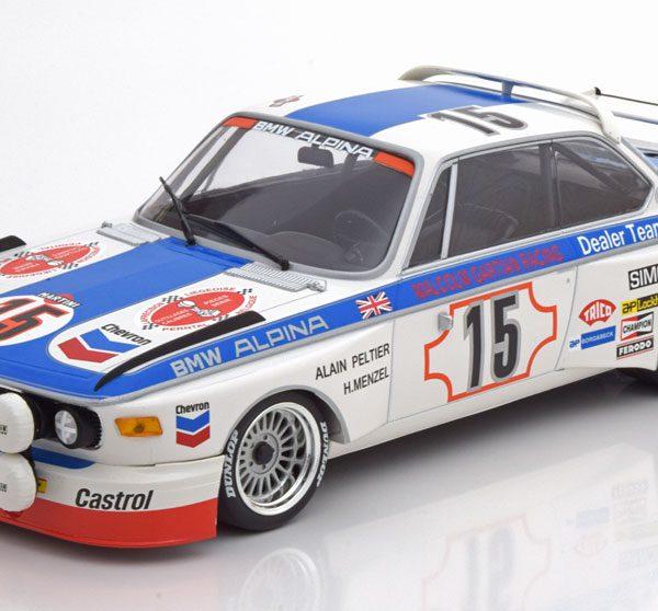 BMW 3.0 CSL No.15, 24h Spa 1973 Peltier/Menzel 1-18 Minichamps Limited 336 Pieces