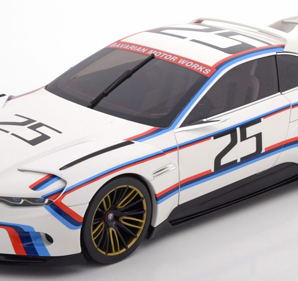 BMW 3.0 CSL Hommage R No.25, Pebble Beach 2015 Wit 1-18 Norev Hommage Collection