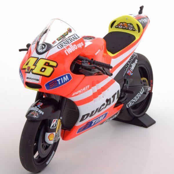 Ducati Desmosedici GP11.2 No.46, Moto GP 2011 Valentino Rossi 1-12 Minichamps