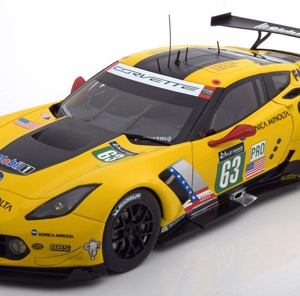 Chevrolet Corvette C7.R No.63, 24h Le Mans 2016 Magnussen/Garcia/Taylor 1-18 Autoart