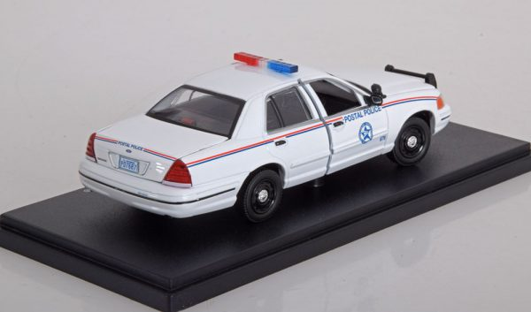 Ford Crown Victoria Police Interceptor USPS 2010 Wit 1-43 Greenlight Collectibles