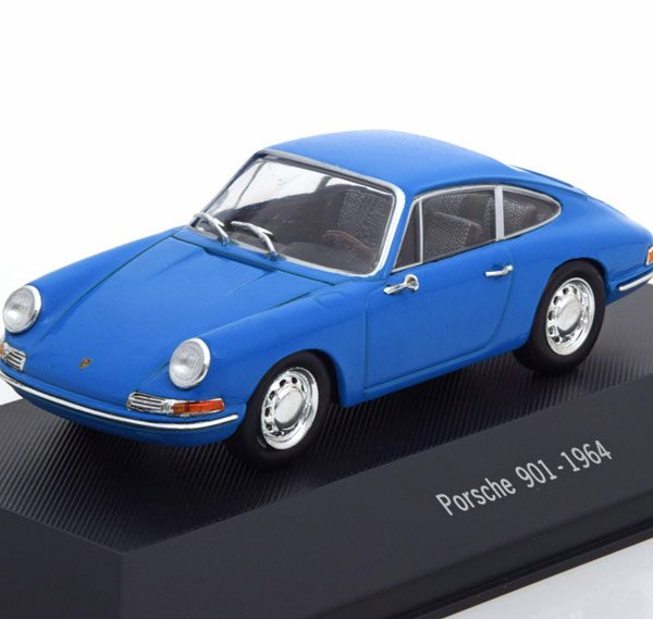 Porsche 901 1964 Blauw 1-43 Atlas Porsche Collection