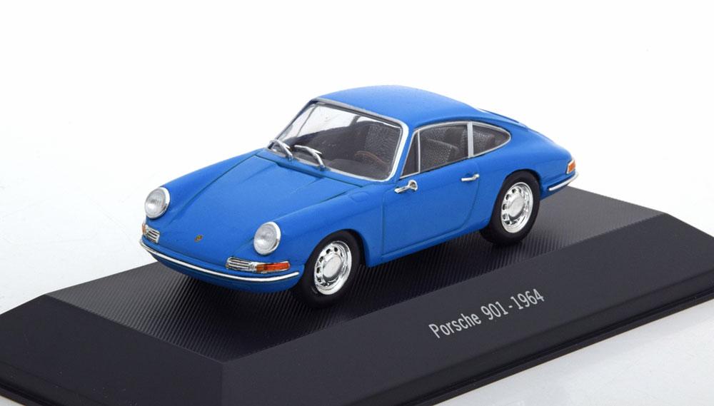 Porsche 901 1964 Blauw 1-43 Atlas Porsche Collection