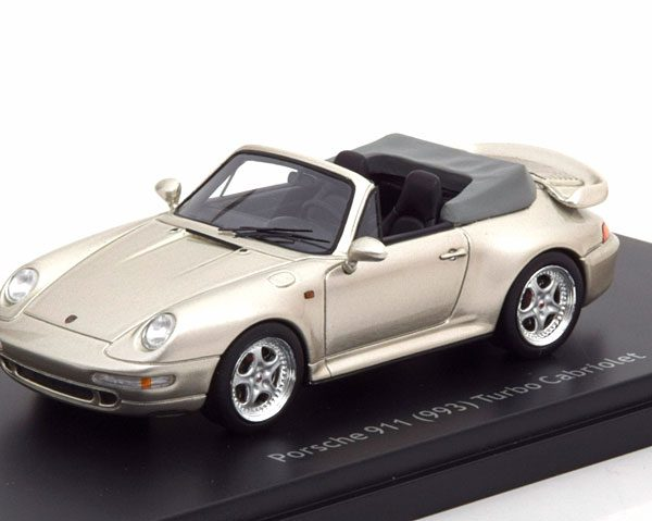 Porsche 911 ( 993 ) Turbo Cabriolet 1-43 Zilver Schuco Pro R Limited 1000 Pieces