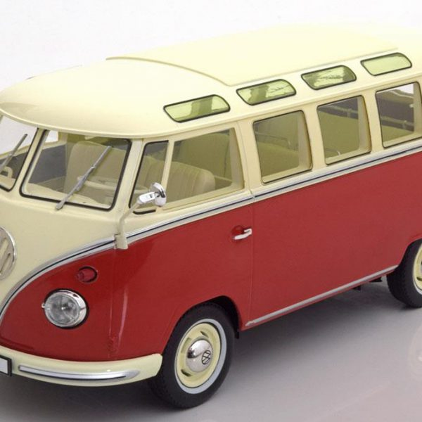 "Volkswagen Bus T1 ""Samba""1962 Rood / Creme 1-18 KK Scale Limited 750 Pieces"
