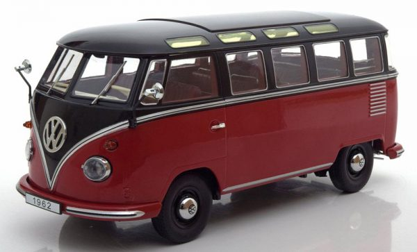 "Volkswagen Bus T1 ""Samba""1962 Rood / Zwart 1-18 KK Scale Limited 1500 Pieces"