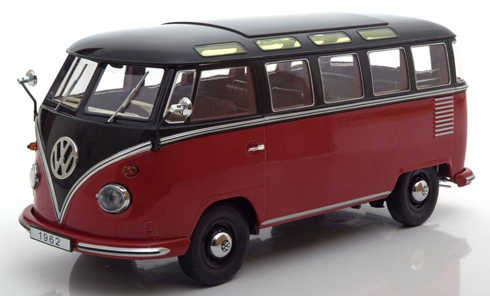 volkswagen bus t1 samba 1962 rood zwart 1 18 kk scale. Black Bedroom Furniture Sets. Home Design Ideas