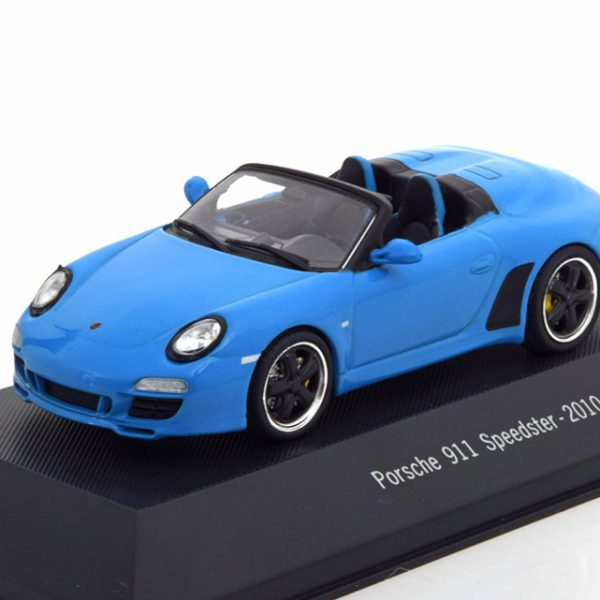 Porsche 911 (997) Speedster 2010 Blauw 1-43 Atlas Porsche Collection