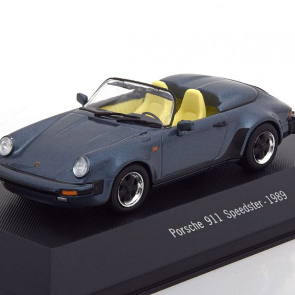 Porsche 911 Speedster 1989 Blauw Metallic 1-43 Atlas Porsche Collection