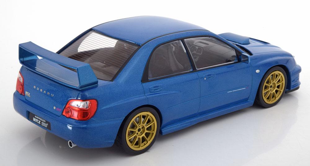 Subaru Impreza WRX STI 2003 Blauw Metallic 1-18 Ixo Models