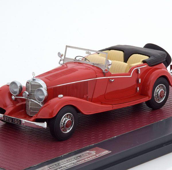 Mercedes-Benz 500 K 4 Passenger Touer Mayfair Open 1934 Rood 1-43 Matrix Scale Models